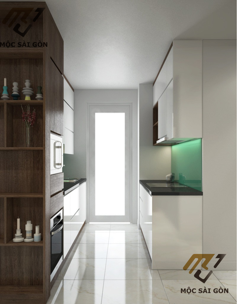 Kiểu tủ bếp song song