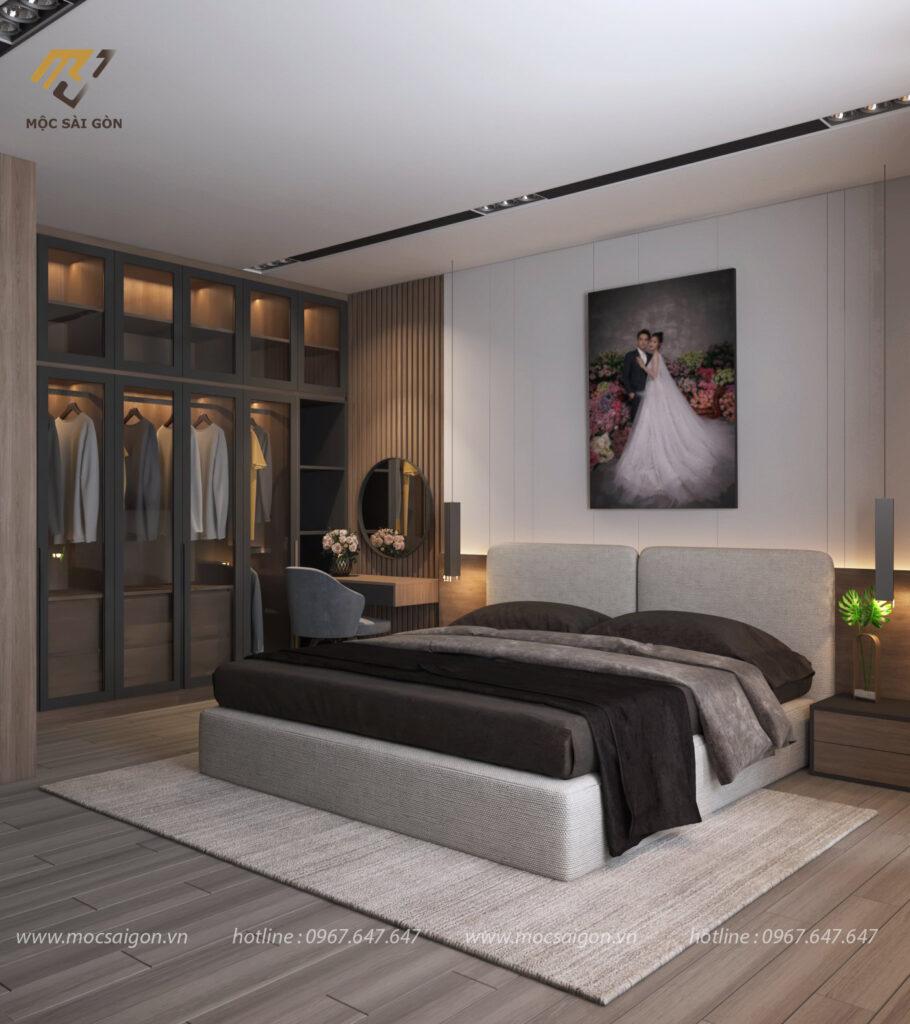 Mẫu thiết kế phòng ngủ không gian mở