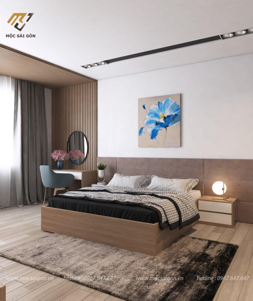 Mẫu thiết kế nội thất nhẹ nhàng sang trọng
