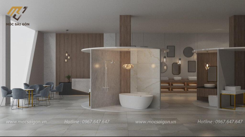 Mẫu thiết kế nội thất showroom cửa hàng