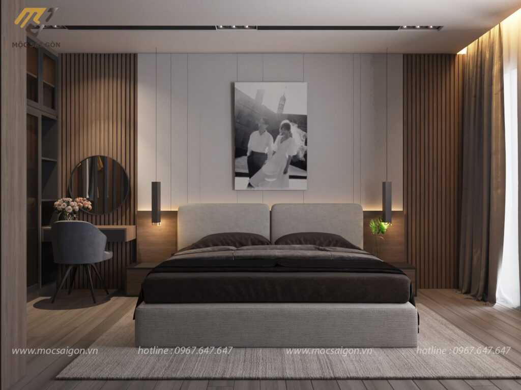 Thiết kế nội thất phòng ngủ cho nhà phố