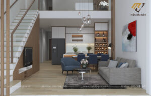 Thiết kế nội thất trọn gói nhà phố tại bình dương
