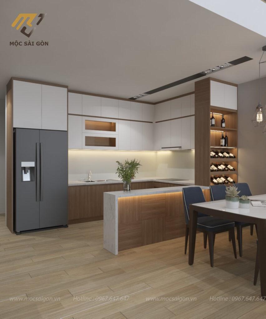 Thiết kế nội thất trọn gói phòng bếp