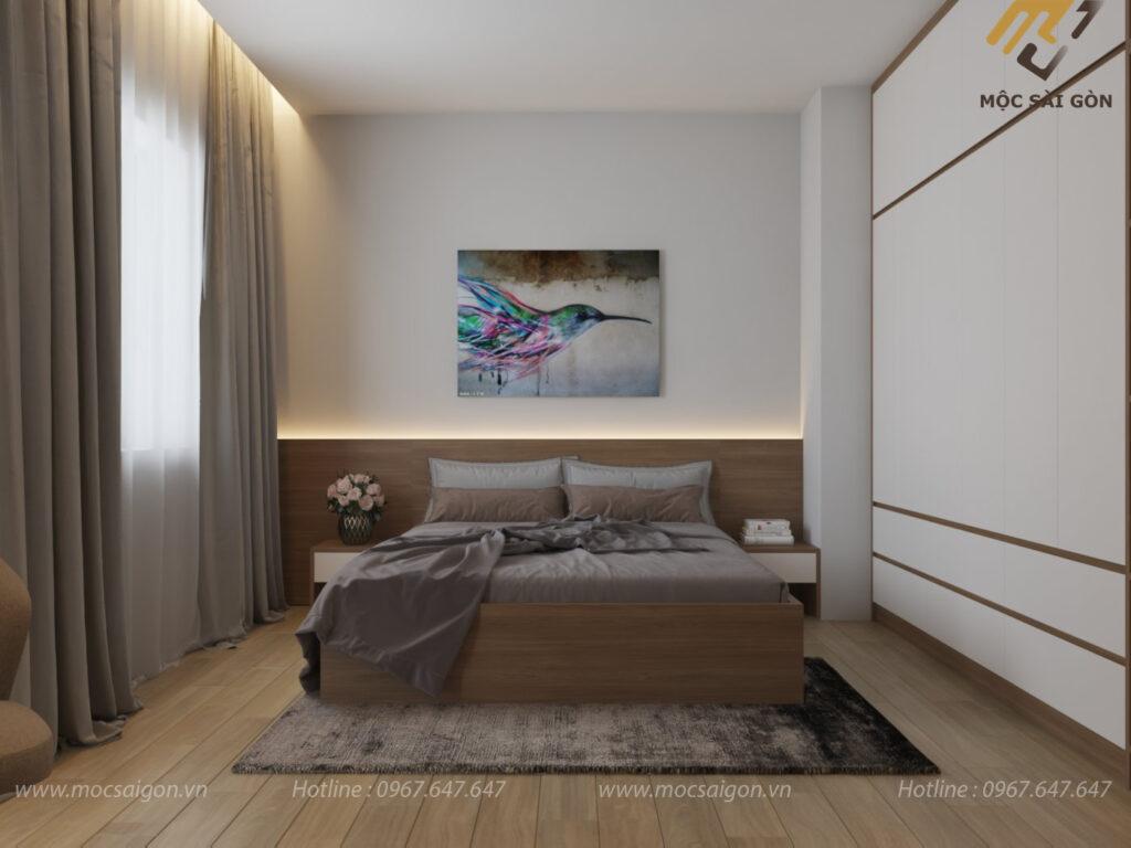thiết kế nội thất trọn gói phòng ngủ master