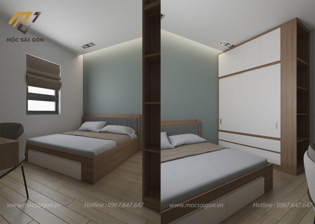 Thiết kế nội thất trọn gói phòng ngủ nhỏ