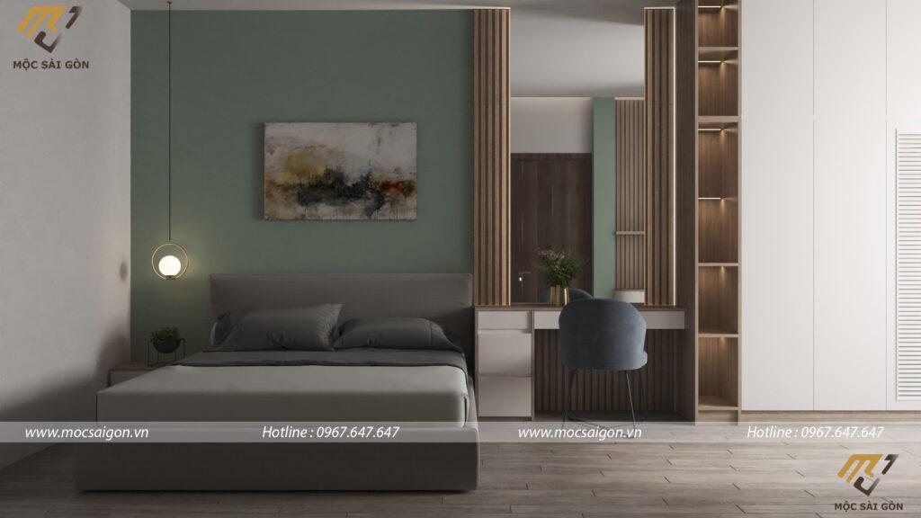 Thiết kế nội thất nhà phố - mẫu phòng ngủ sang trọng