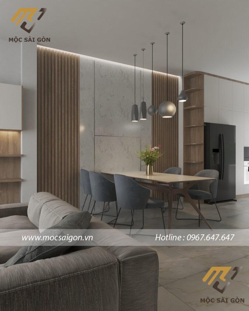 Thiết kế nội thất nhà phố - mẫu phòng ăn