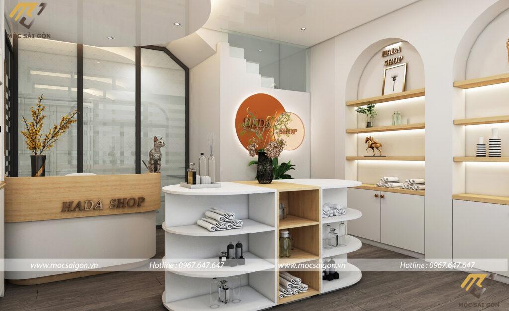 Mẫu thiết kế shop cửa hàng tại quận 1 sang trọng