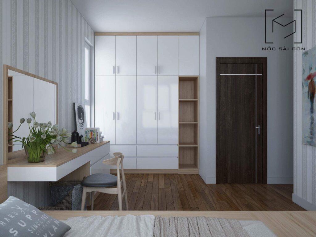Thiết kế nội thất chung cư - mẫu phòng ngủ master