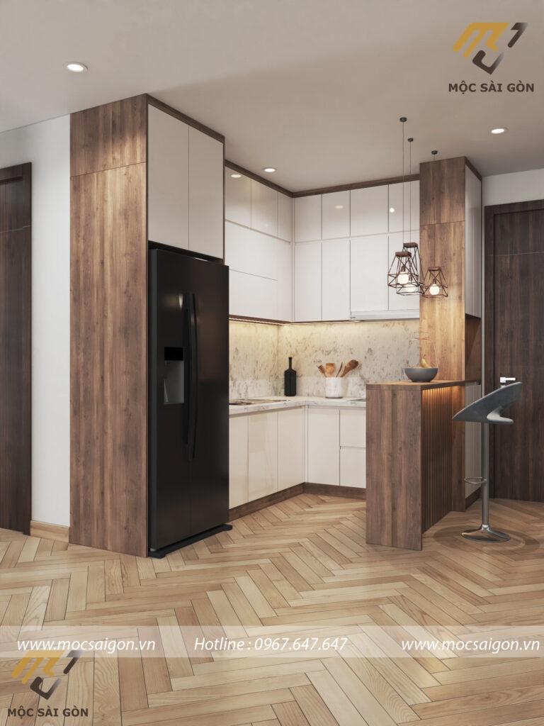 Thiết kế nội thất chung cư hạng mục tủ bếp