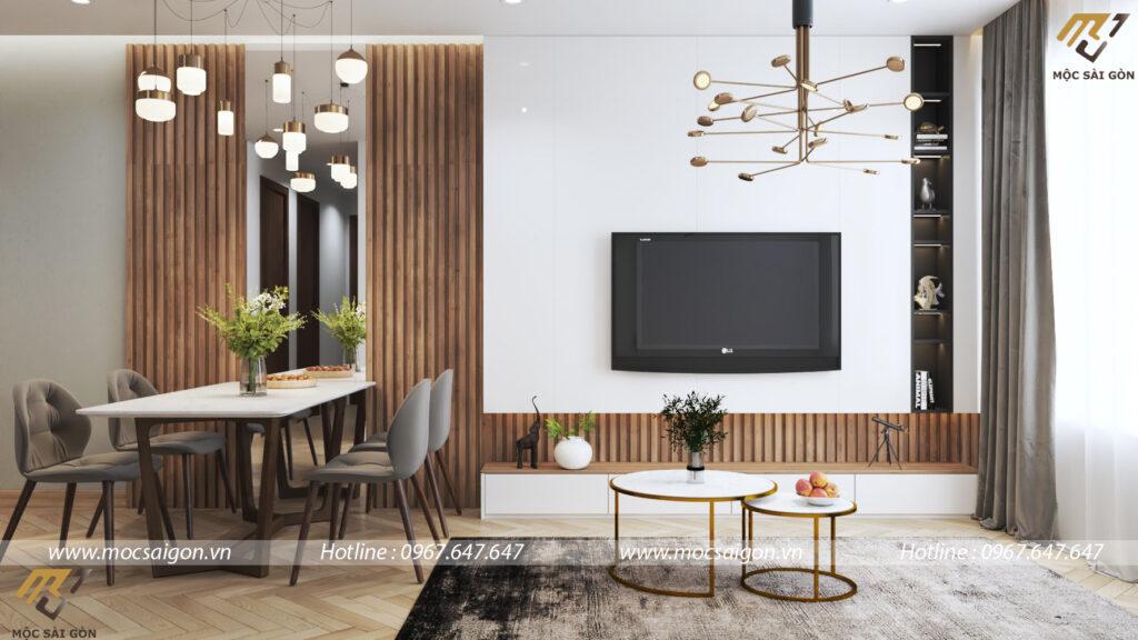 Thiết kế nội thất chung cư hạng mục phòng khách